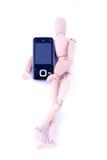 Dummy with handphone Stock Photo