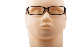 Dummy head with black eyeglasses Stock Images
