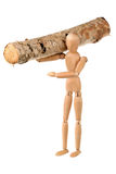 Dummy and log Stock Images