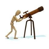 Dummy looks through telescope Stock Images