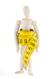 Dummy with measuring tape Royalty Free Stock Photo