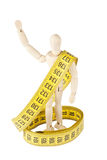 Dummy with measuring tape Stock Photos
