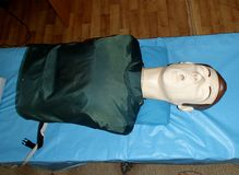 Medical training dummy stock images