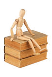 Dummy and old books. Isolated over white background Royalty Free Stock Photography