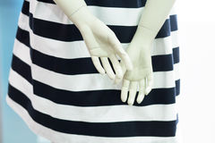 Dummy plastic hands Stock Images