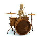 Dummy plays drum Royalty Free Stock Image