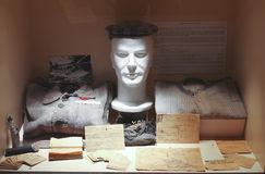 Dummy prisoner at the Museum of the Battle of Normandy. Royalty Free Stock Images