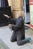 Dummy of prisoner in Peter and Paul Fortress in Saint Petersburg Royalty Free Stock Images