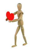 Dummy and red heart Stock Images