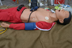 Dummy with rescue equipment Stock Photos