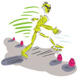Dummy roller skater. Stock Photo