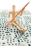Dummy's crossword. Stock Photography