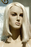 Dummy's head. Blonde mannequin head illuminated by the sun Royalty Free Stock Images