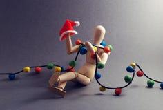 Dummy's Xmas eve. Royalty Free Stock Images