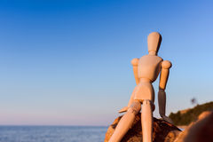 Dummy at the sea Royalty Free Stock Images