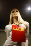 Dummy in a shop, sale Royalty Free Stock Photography