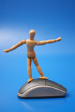 Dummy surfing on the net Royalty Free Stock Image