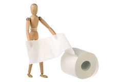 Dummy and toilet paper Royalty Free Stock Photos