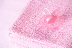 Dummy and towels stock images