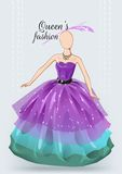 Dummy in violet ball dress Stock Photo