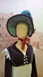 Dummy wearing a Georgian lady outfit stock photo
