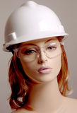 Dummy in white safety helmet Royalty Free Stock Photos