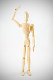 Dummy wooden Action post on vignette white background Stock Photography