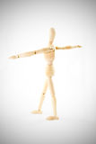 Dummy wooden Action post on vignette white background Royalty Free Stock Image