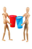 Dummys with cups Stock Photography
