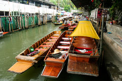 Dumnoen Saduak Floating Market Royalty Free Stock Image