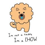Dumny Chow Chow psa kawaii royalty ilustracja