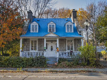 Dumouchel Historic House. 1737, boulevard Gouin Est Montreal,Quebec, CanadannHouse built between 1838 and 1848 on behalf of the carpenter Joseph David Stock Image