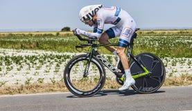 骑自行车者汤姆Dumoulin 免版税库存图片