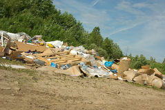 Dump. Pollution: a dump in countryside among the nature Stock Images