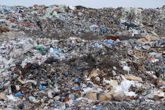 Dump. Various rubbish and trash heaped on a slope of municipal dump Stock Photography