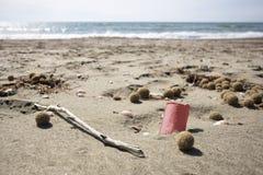 Dump auf dem Strand Lizenzfreie Stockbilder