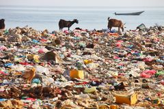 Dump on the beach Stock Photo