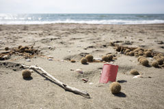 Dump on the beach royalty free stock images