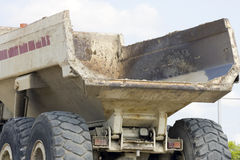 The dump bed from a dump truck. The dump bed from a heavy duty dump truck Stock Photo