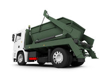 Dump car isolated back view Stock Photography