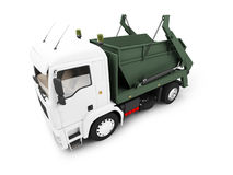 Dump car isolated front view Royalty Free Stock Image