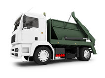 Dump car isolated front view Royalty Free Stock Images