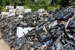 Dump of car wrecks Royalty Free Stock Images