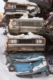 Dump cars in Russia in the winter Royalty Free Stock Images
