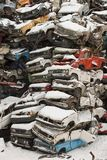 Dump cars in Russia in the winter Stock Images
