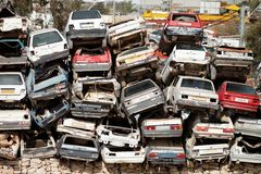Dump cars Royalty Free Stock Photography