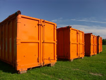 Dump containers royalty free stock photo