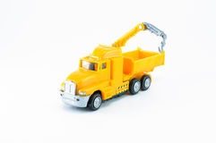 Dump with crane toy car Stock Photos