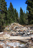 Dump in forest Stock Photography