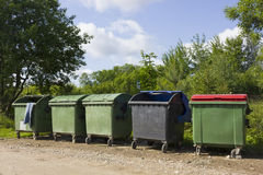Dump of garbage  in the village Stock Photo